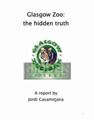 Glasgow zoo the hidden truth report frontcover