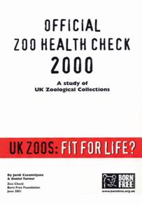 Official Zoo Health Check 2000 report frontcover, Born Free Foudation
