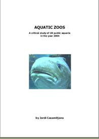 Aquatic Zoos report frontcover, with photo of cod