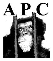 APC logo, with sad chimp face between bars